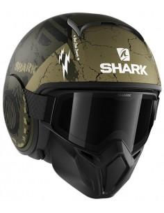 Casco Shark Street-Drak Crower Mate | Mate-Verde y negro | HE3318GKG