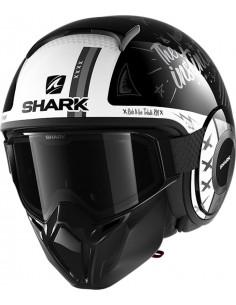Casco Shark Street-Drak Tribute RM | Negro-antracita-blanco | HE3319KAW