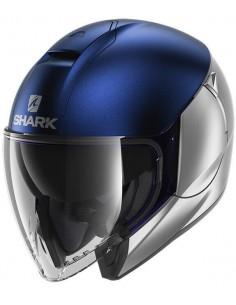 Casco Shark Citycruiser Dual Mate | Mate-Plata y azul | HE1929SBS