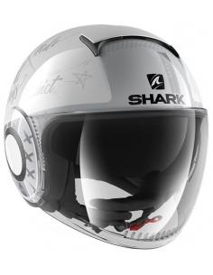 Casco Shark Nano Tribute RM | Blanco y plata | HE2851WSS