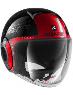 Casco Shark Nano Tribute RM | Negro-blanco-rojo | HE2851KWR