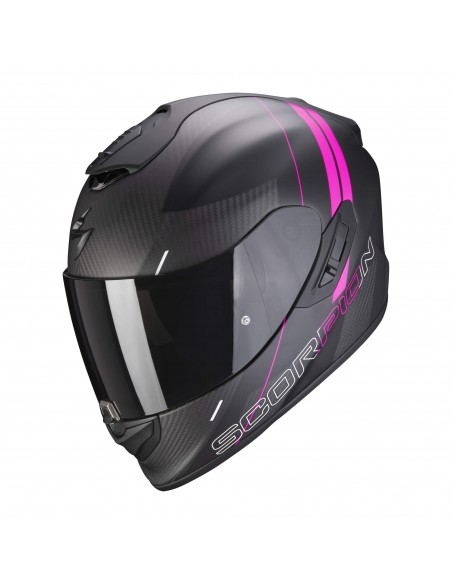 Casco Scorpion Exo-1400 Carbon Air Drik | Mate-Negro y rosa