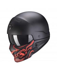 Casco Scorpion Exo-Combat Evo Samurai | Mate-Negro y rojo