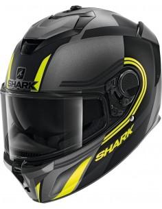 Casco Shark Spartan GT Tracker Mat | Mate-Antracita-negro-amarillo AKY