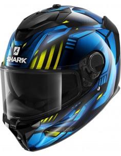 Casco Shark Spartan GT Replikan | Negro-cromo-azul KUB