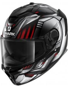 Casco Shark Spartan GT Replikan Mat | Mate-Negro-cromo-plata KUS