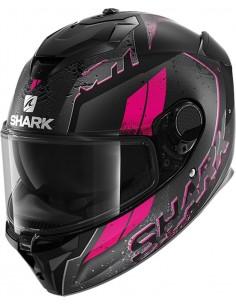 Casco Shark Spartan GT Ryser Mat Mujer | Mate-Negro-antracita-púrpura KAV