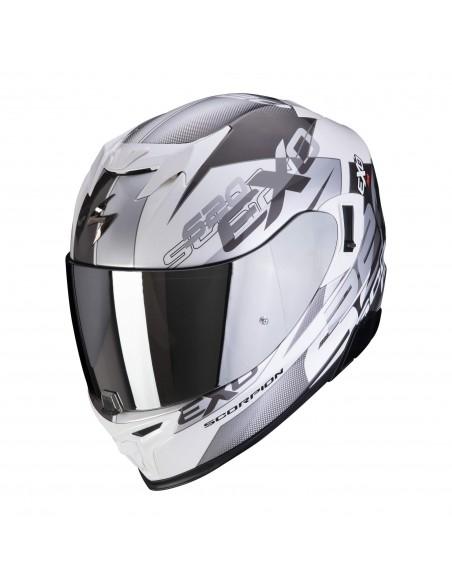 Casco Scorpion Exo-520 Air Cover | Blanco y plata