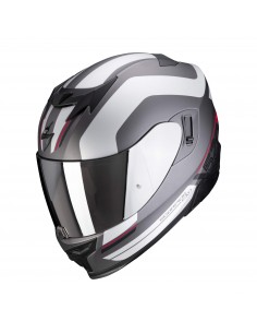 Casco Scorpion Exo-520 Air Lemans | Mate-Negro-plata-blanco
