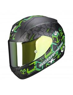 Casco Scorpion Exo-390 Cube   Mate-Negro y verde