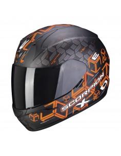 Casco Scorpion Exo-390 Cube   Mate-Negro y naranja