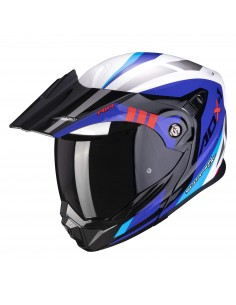 Casco Scorpion ADX-1 Lontano   Blanco-azul-rojo