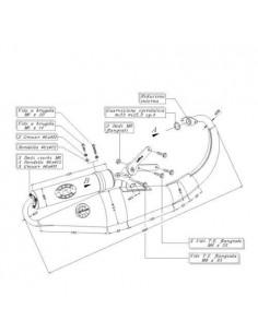 Escape LeoVince Yamaha BW\'s 50 / MBK Booster