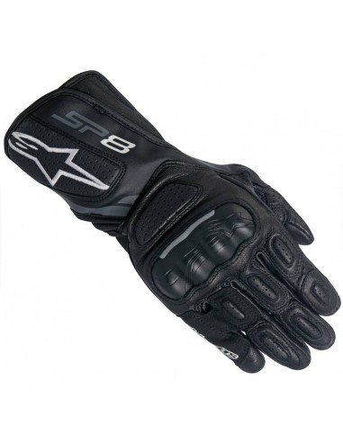 Guantes Alpinestars Stella SP-8 V2 Negro / Gris Oscuro