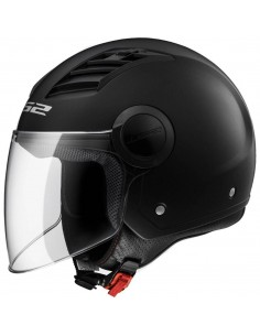 Casco Jet LS2 OF562 Airflow L Solid Negro