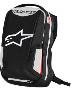 Mochila Alpinestars City Hunter Negra / Blanca / Roja